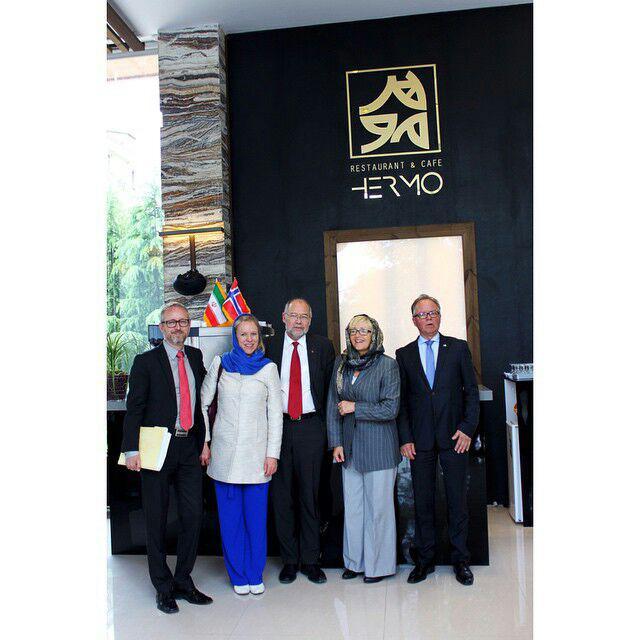 حضور دیپلمات ها در هرمو